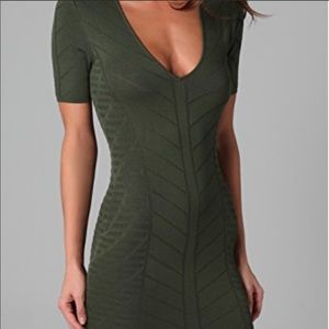 Torn by Ronny Kobo Caterina green knit mini dress